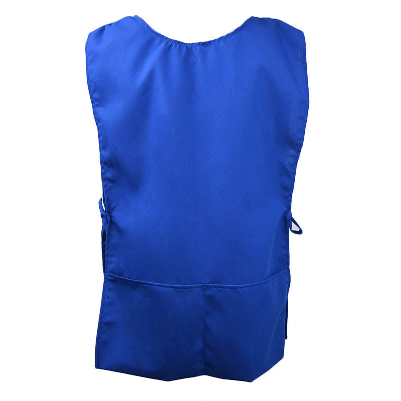 Intedge C335BLU Two-sided Cobbler Apron, 2 Front Pockets, Blue