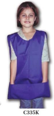 Intedge C335 K LB Childs 2-Pocket Cobbler Apron, Light Blue