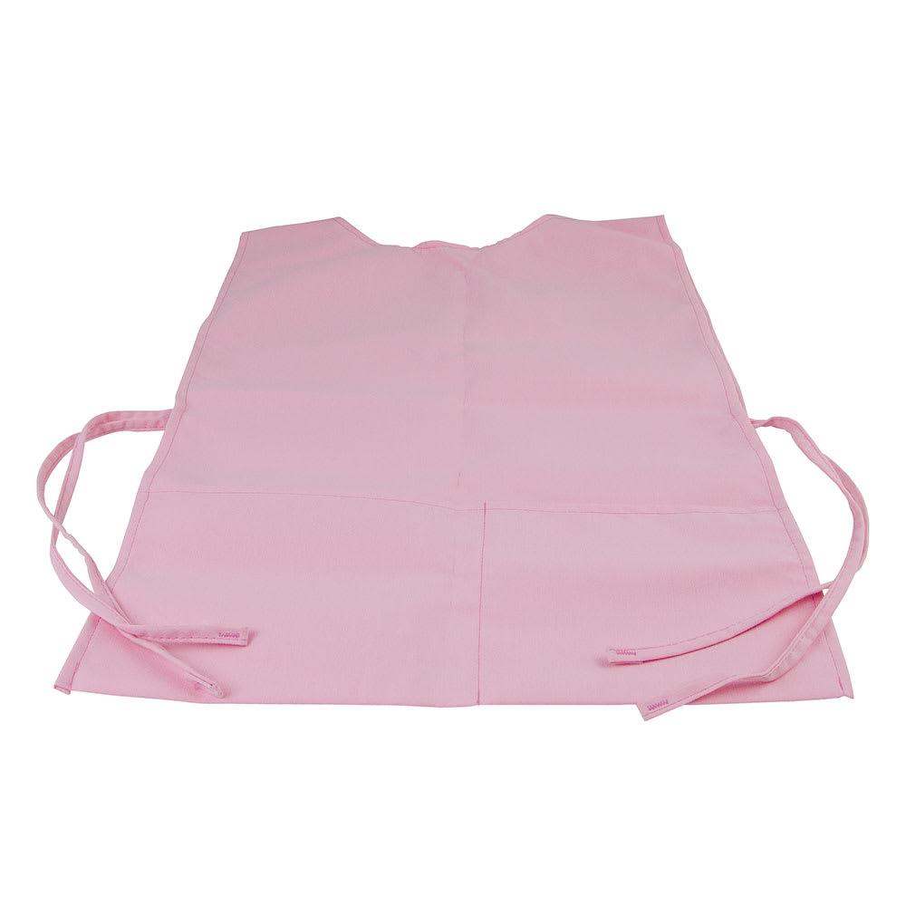 "Intedge C335 LP Cobbler Apron w/ Matching Ties, 2-Pockets, 29 x 18"", Light Pink"