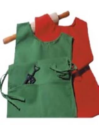 "Intedge C335 OR Cobbler Apron w/ Matching Ties, 2-Pockets, 29 x 18"", Orange"