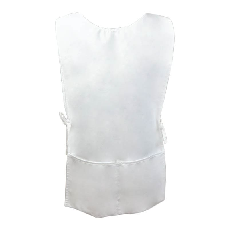 "Intedge C335W Cobbler Apron w/ 2-Pockets, 29 x 18"", White"