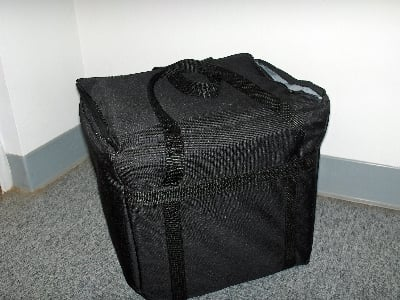 "Intedge CIFC-1 N Cadura Nylon Insulated Food Carrier, 22 x 12 x 12"", Navy"
