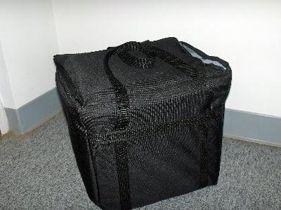 "Intedge CIFC-2 R Cadura Nylon Insulated Food Carrier, 11 x 13 x 12"", Red"