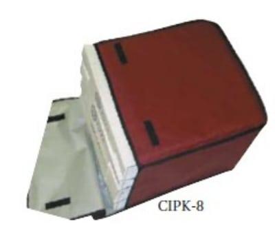 """Intedge CIPK-8 R Cadura Nylon Pizza Delivery Bag, 20 x 20 x 12"""", Red"""