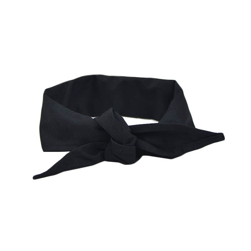 "Intedge CK1 BLK Chef Kerchief w/ Poly Cotton Blend, 14 x 37"", Black"