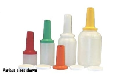 Intedge EZ016 W 16-oz EZ Serve Bottle w/ 1-Piece Neck & Spout, White