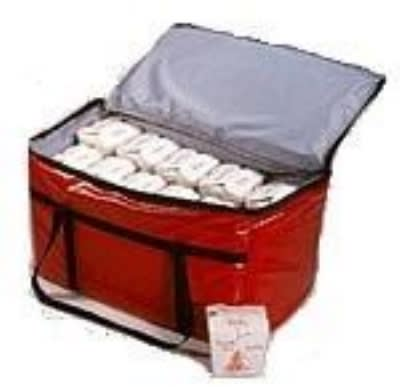 """Intedge IFC-20 R Insulated Food Carrier for Hot & Cold, 20 x 20 x 12"""", Red"""
