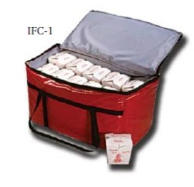 """Intedge IFC-3 Y Insulated Vinyl Food Carrier, 16 x 12 x 7"""", Yellow"""