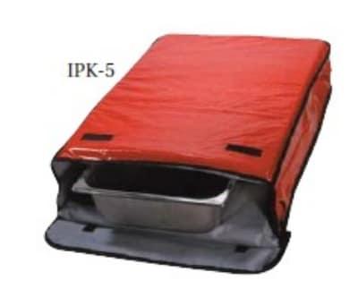 """Intedge IPK-5 BLK Insulated Sheet Pan Carrier, 18 x 26 x 5"""", Black"""