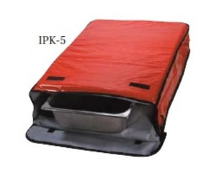 "Intedge IPK-5 R Insulated Sheet Pan Carrier, 18 x 26 x 5"", Red"