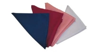 "Intedge NCM2222 LP 22"" Square Napkin w/ Hemmed Edge, Light Pink"