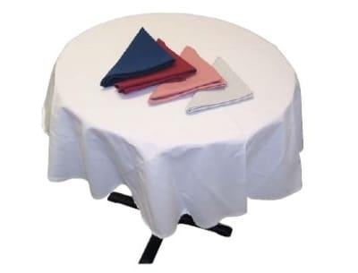 "Intedge TCM54R BLK 54"" Round Tablecloth w/ Hemmed Edge, Black"