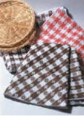 "Intedge VC5252 BUR 52"" Square Tavern Check Vinyl Tablecloth w/ Flannel Back, Burgundy"