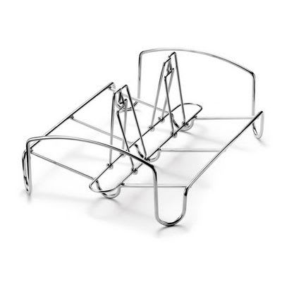 Cuisipro 74-6791 Dual Roasting Rack - Use Vertically or Horizontally, Stainless