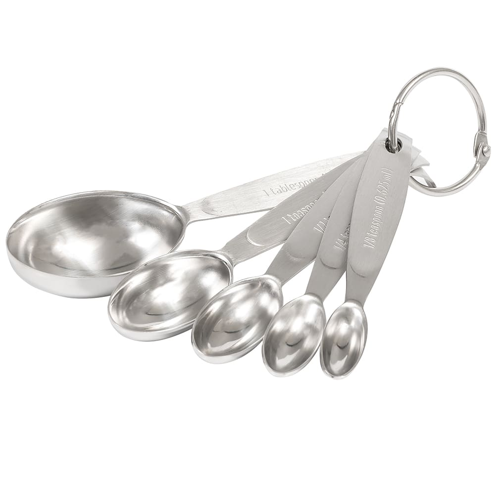 Cuisipro 74-7002 Set of 5 Measuring Spoons - 1/8, 1/4, 1/2, and 1 tsp, 1 tbsp, Nested