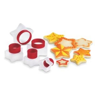 Cuisipro 74-709705 Five Piece Star Shaped Cookie Cutter Set