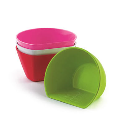 Cuisipro 74-7310 Set of 4 Medium Scoop Bowls w/ 1.5-cup Capacity