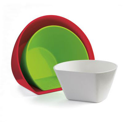 Cuisipro 74-7312 Set of 3 Scoop Bowls w/ Assorted Colors & Capacities