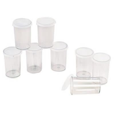 Cuisipro 83-7420 Set of Eight 6 oz Yogurt Maker Jars With Lids