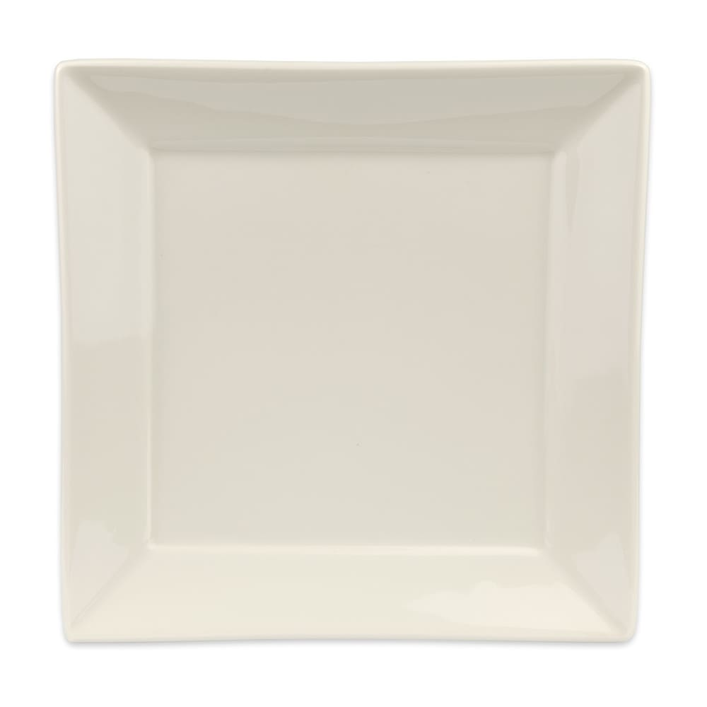 "Homer Laughlin 08700 10"" Square Times Square Plate - China, Ivory"