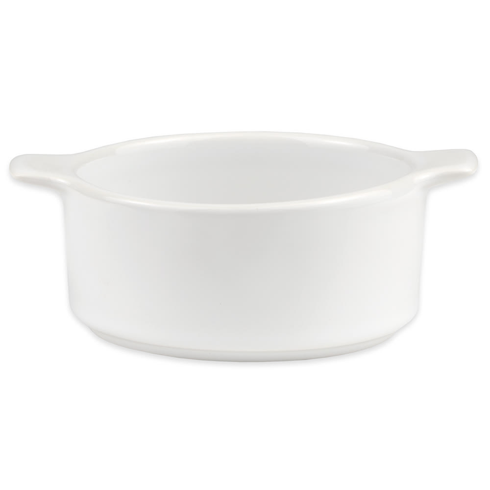 Homer Laughlin 101210000 8.75-oz Cocotte - China, Arctic White