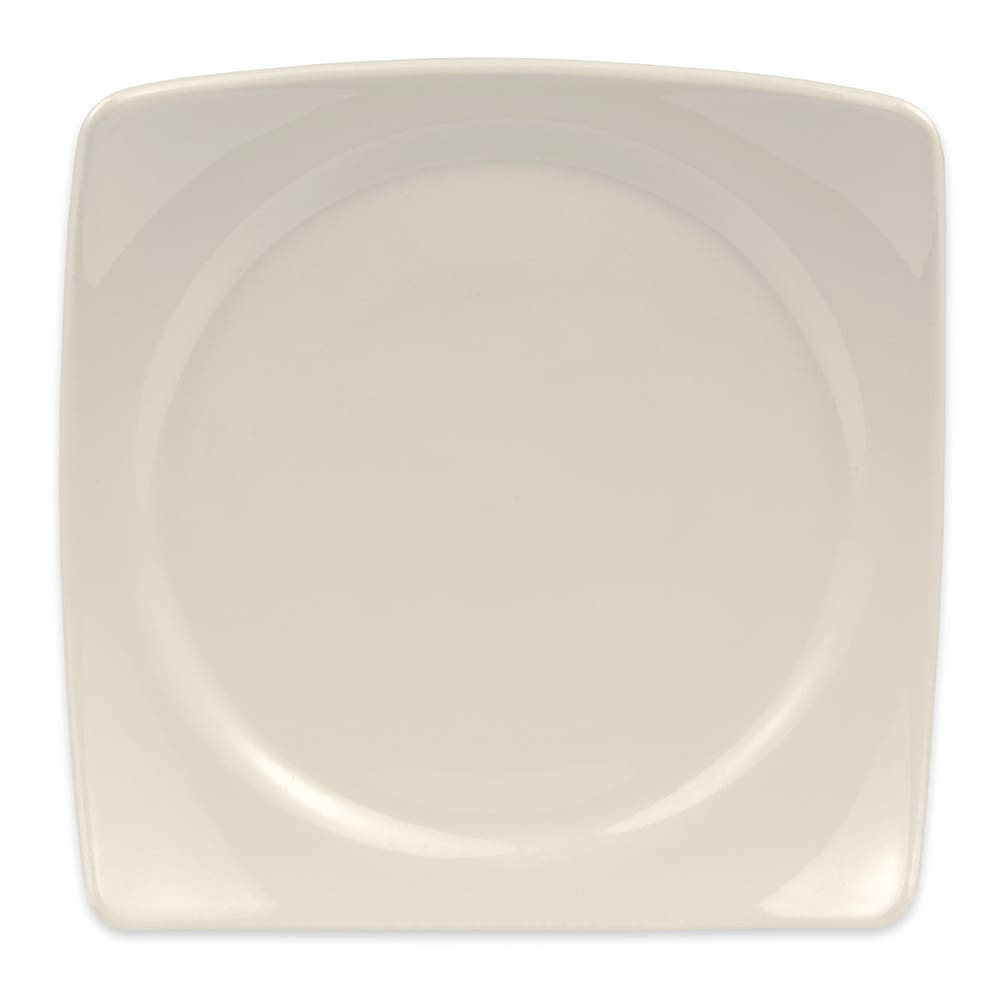 "Homer Laughlin 105300 9.13"" Square Organic Plate - China, Ivory"