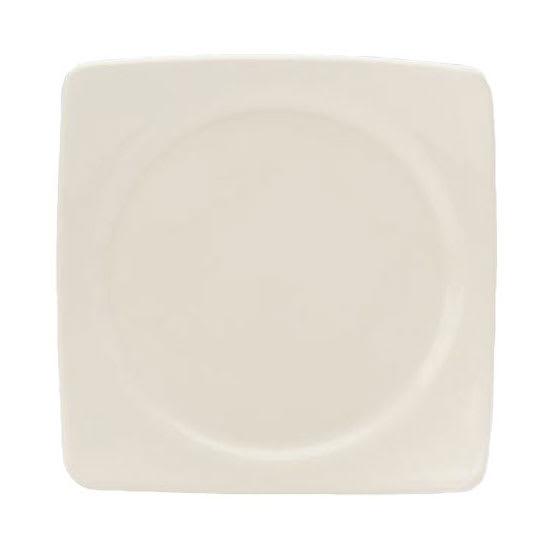 "Homer Laughlin 105310000 9.13"" Square Organic Plate -  China, Arctic White"