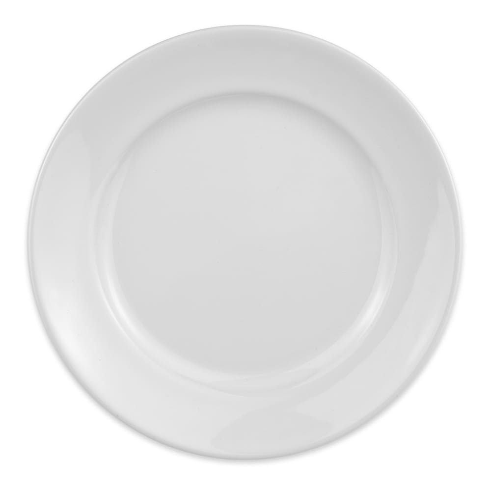 "Homer Laughlin 120610000 6.25"" Round RE-21 Plate - China, Arctic White"
