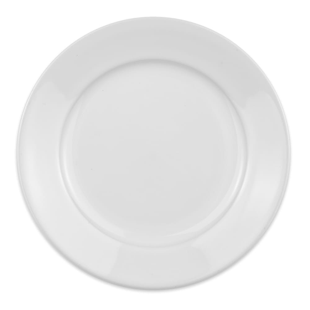 "Homer Laughlin 120710000 7.38"" Round RE-21 Plate - China, Arctic White"