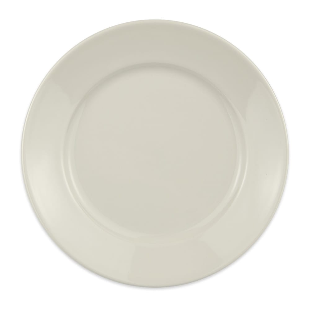 "Homer Laughlin 12072100 7.38"" Round RE-21 Plate - China, Ivory"