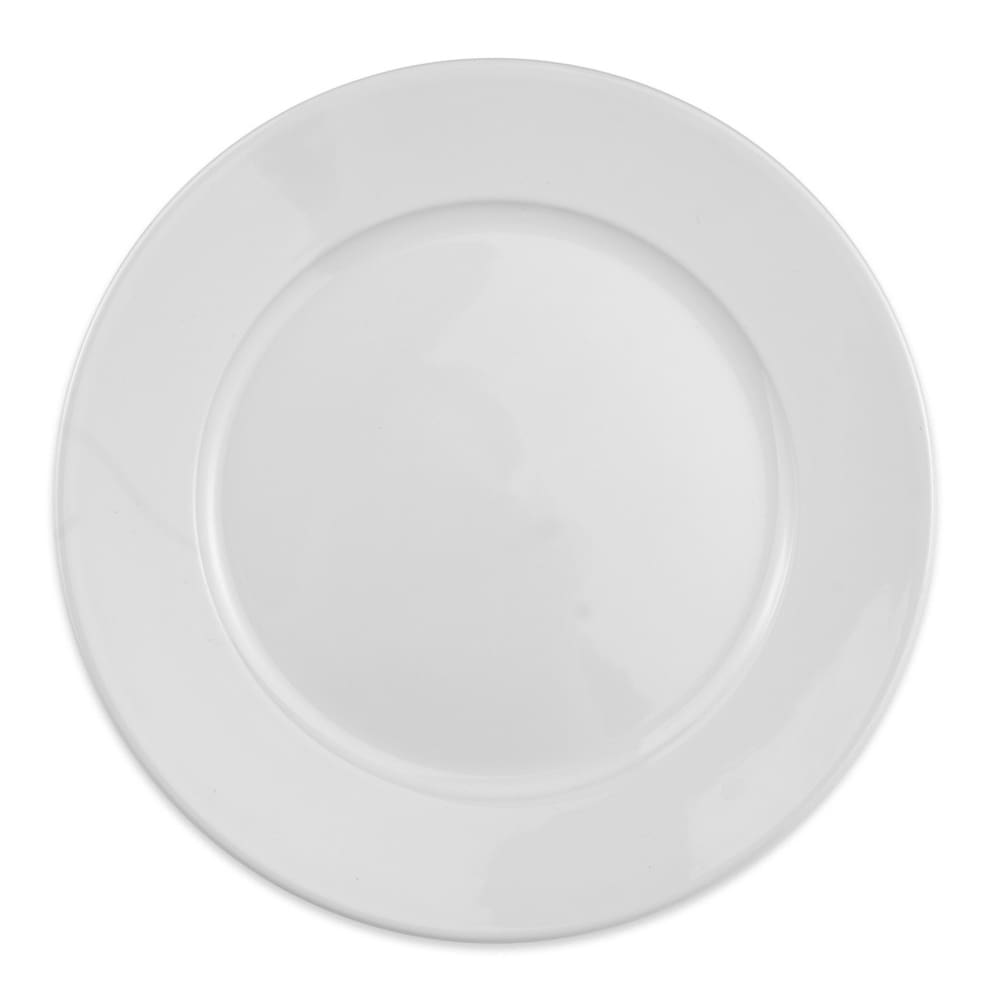 "Homer Laughlin 120910000 9.63"" Round RE-21 Plate - China, Arctic White"