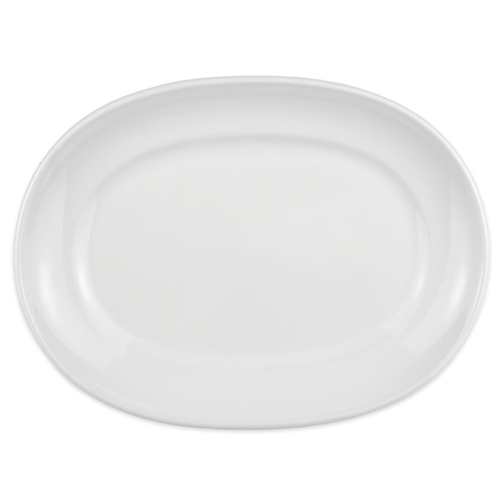 "Homer Laughlin 122310000 10"" Oval RE-21 Platter - China, Arctic White"