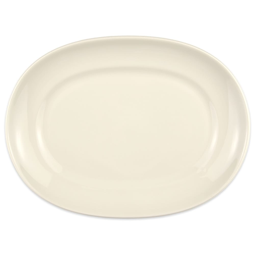 "Homer Laughlin 12242100 12"" Oval RE-21 Platter - China, Ivory"