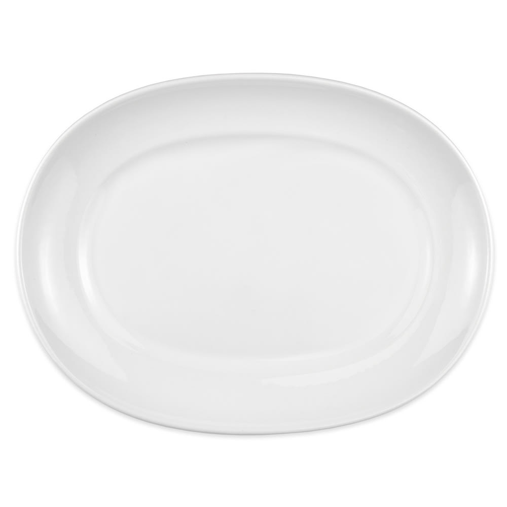 "Homer Laughlin 122510000 14"" Oval RE-21 Platter - China, Arctic White"