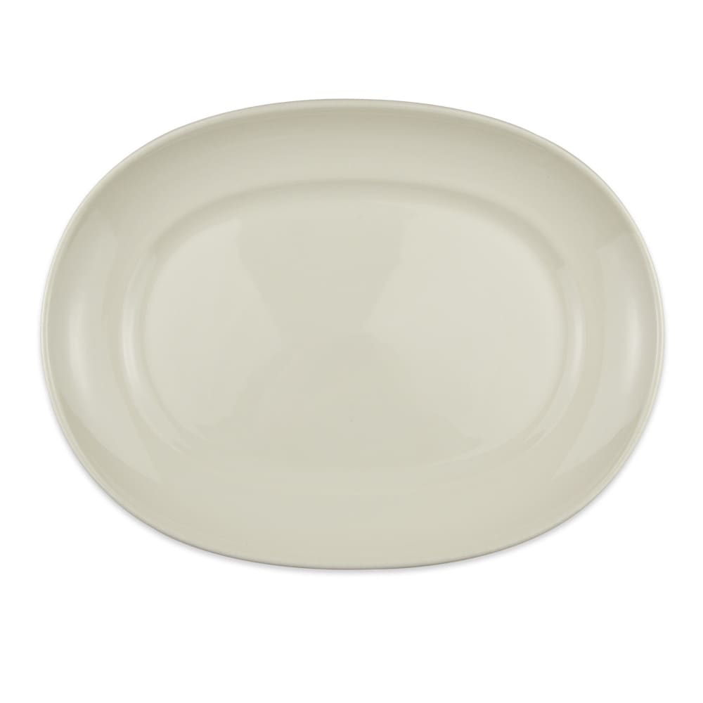 "Homer Laughlin 12252100 14"" Oval RE-21 Platter - China, Ivory"