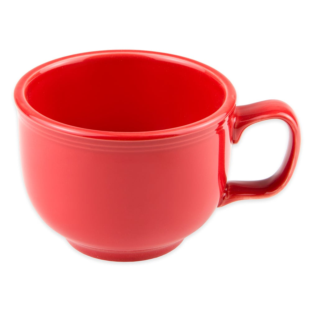 Homer Laughlin 149326 18-oz Colorations Jumbo Cup - China, Scarlet