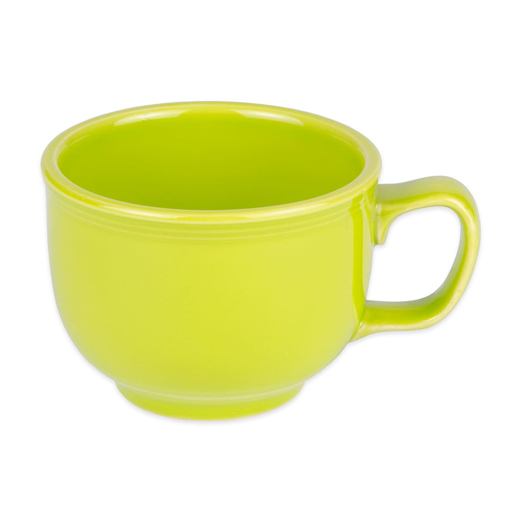 Homer Laughlin 149332 18 oz Colorations Jumbo Cup - China, Lemongrass