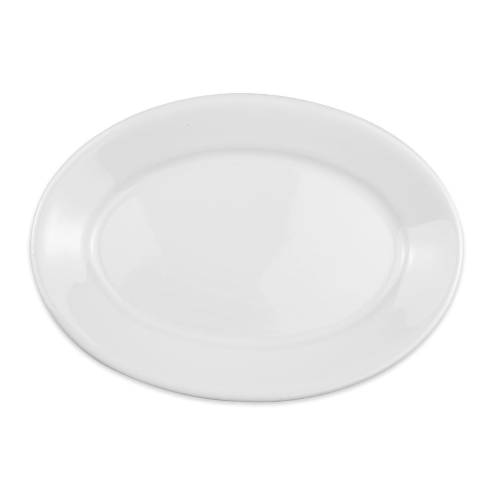 "Homer Laughlin 15310000 9.5"" Oval Platter - China, Arctic White"