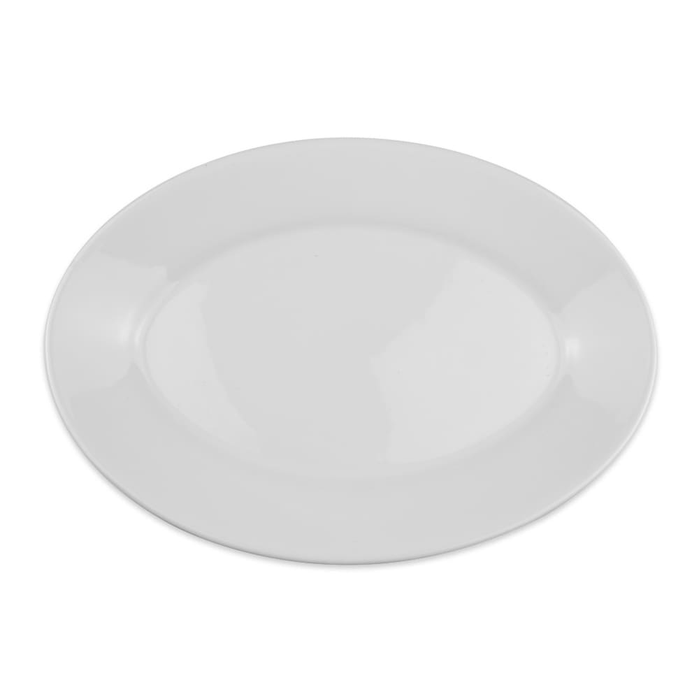 "Homer Laughlin 15510000 11.75"" Oval Platter - China, Arctic White"