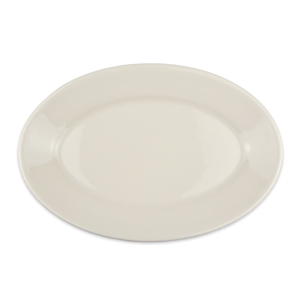 "Homer Laughlin 15700 13.38"" Oval Platter - China, Ivory"