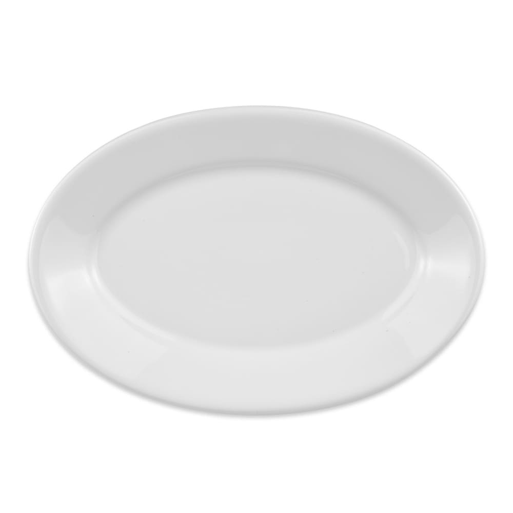 "Homer Laughlin 15710000 13.38"" Oval Platter - China, Arctic White"