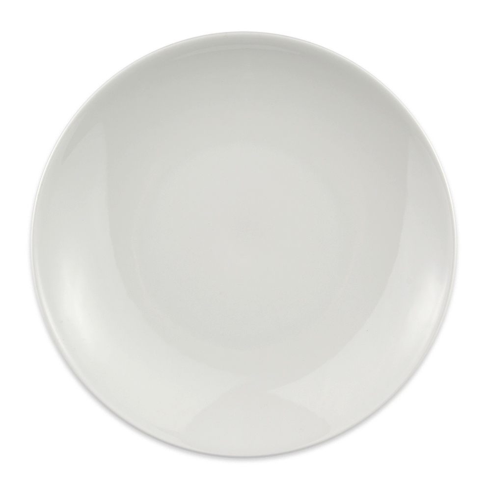 "Homer Laughlin 20056800 10.13"" Round Alexa Salad Plate - China, Ameriwhite"