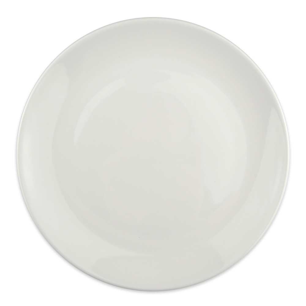 "Homer Laughlin 20086800 10.38"" Round Alexa Dinner Plate - China, Ameriwhite"