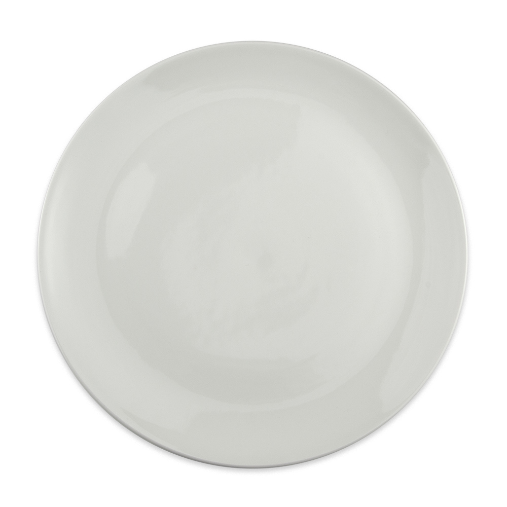 "Homer Laughlin 20106800 11.63"" Round Alexa Entrée Plate - China, Ameriwhite"