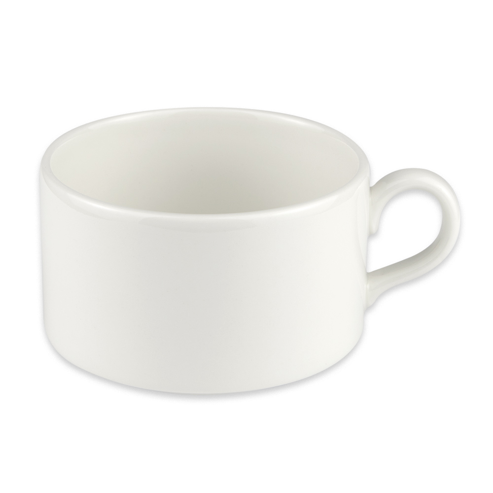 Homer Laughlin 20146800 13-oz Alexa Stackable Cup - China, Ameriwhite