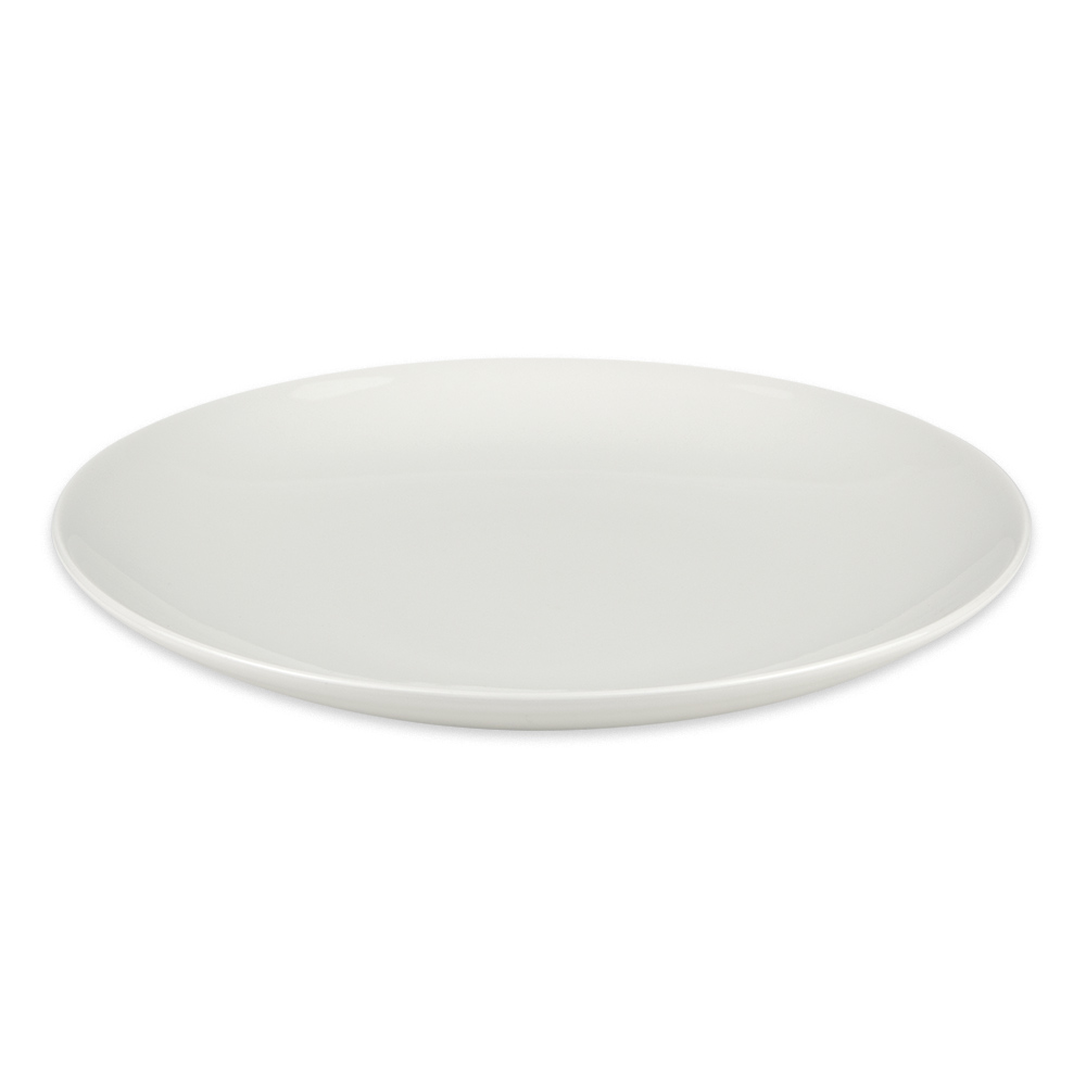 """Homer Laughlin 20246800 11.5"""" Round Alexa Pasta Plate - China, Ameriwhite"""