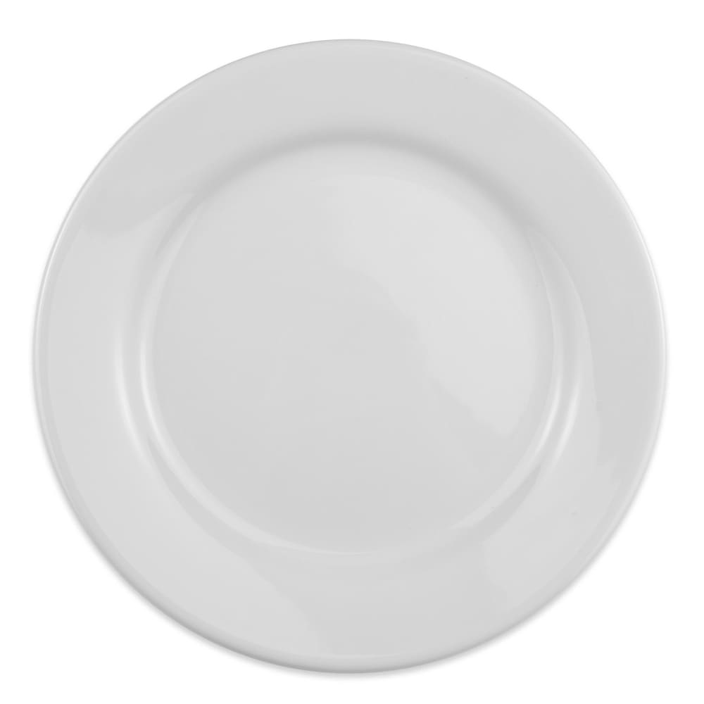 "Homer Laughlin 20610000 9.63"" Round Plate - China, Arctic White"