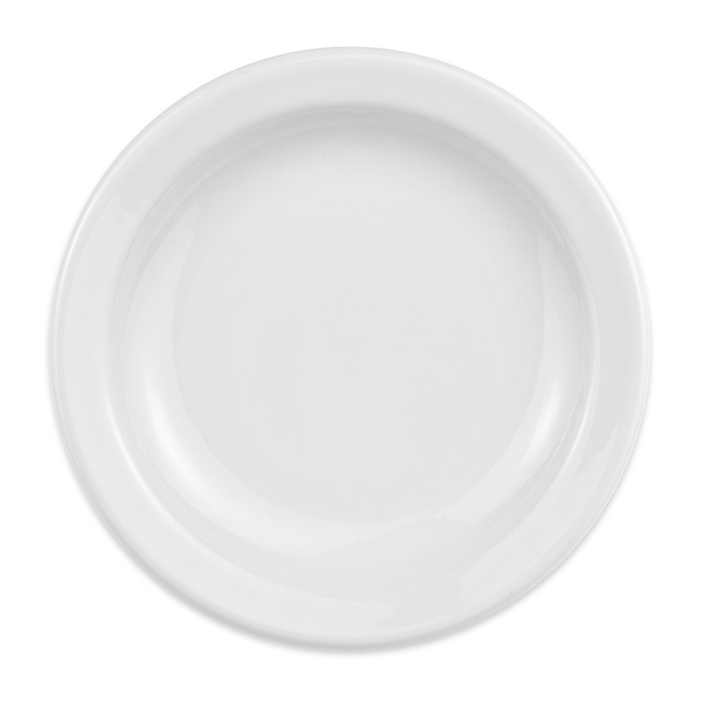 "Homer Laughlin 21210000 6.5"" Round Plate - China, Arctic White"