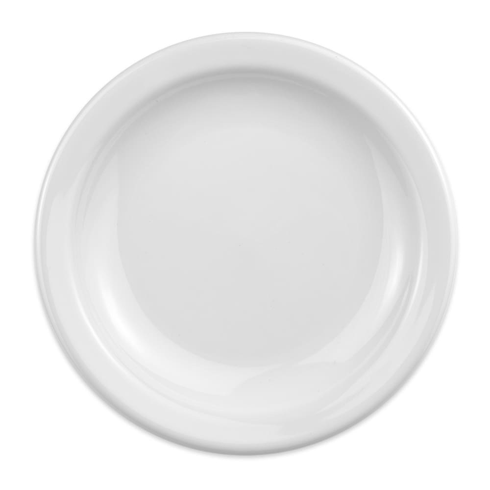 "Homer Laughlin 21310000 7.25"" Round Plate - China, Arctic White"