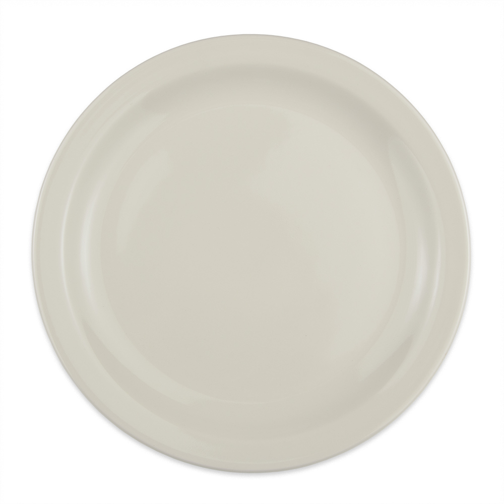 "Homer Laughlin 21700 10.5"" Round Plate - China, Ivory"